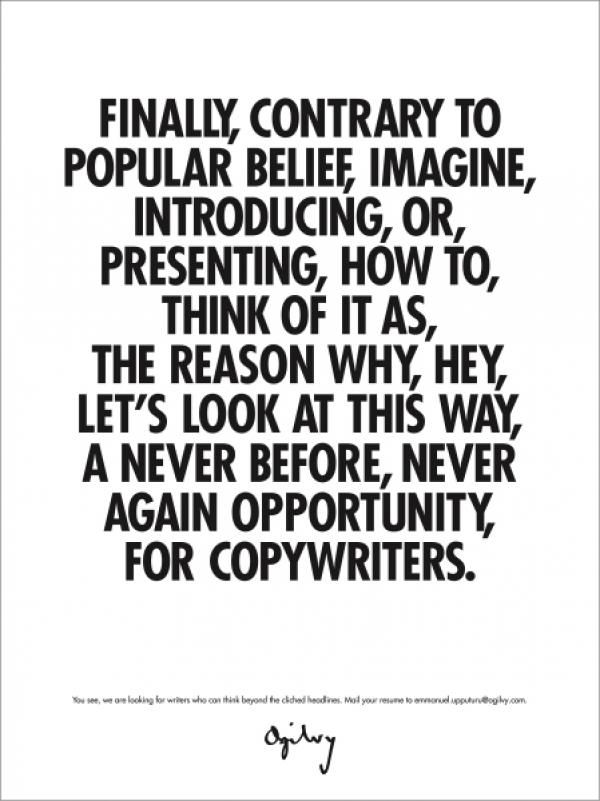 good example of the clichés that exist in copywriting iu0027m - copywriter advertising resume