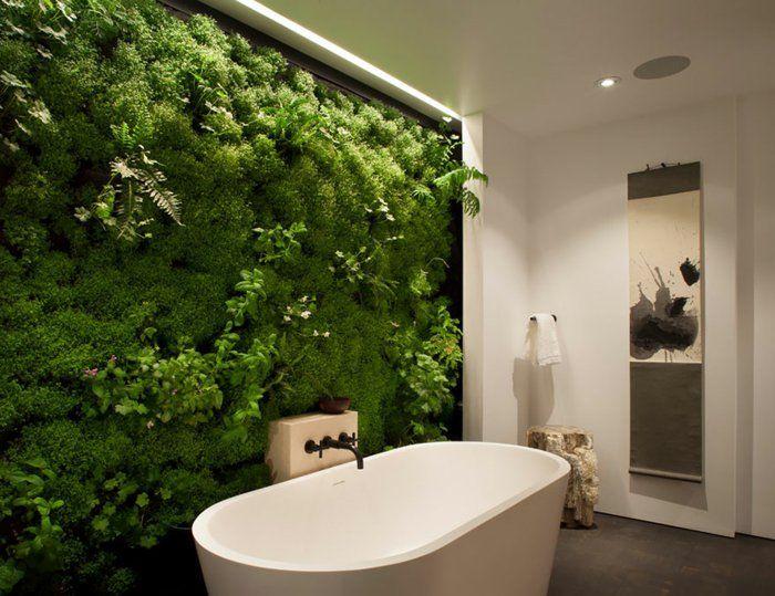 DIY Moosbild für ein frisches Badezimmer Wandgestaltung Ideen - fototapete für badezimmer