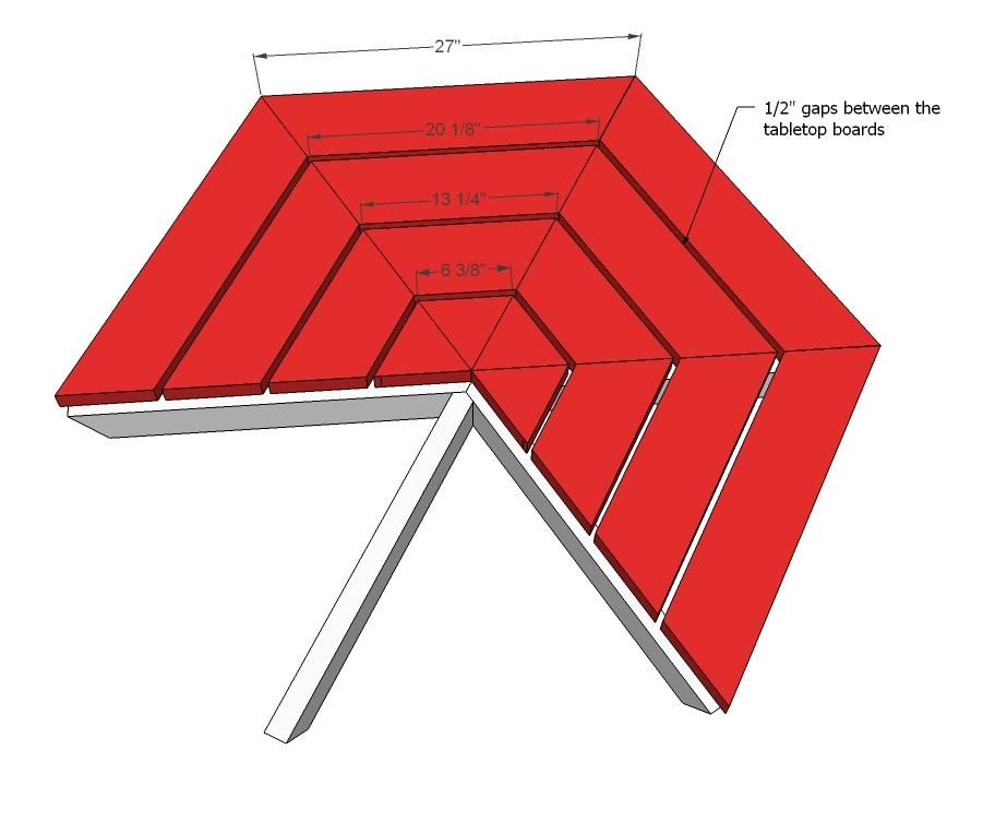 Hexagon picnic table plans add the tabletop boards as shown above hexagon picnic table diy projects watchthetrailerfo