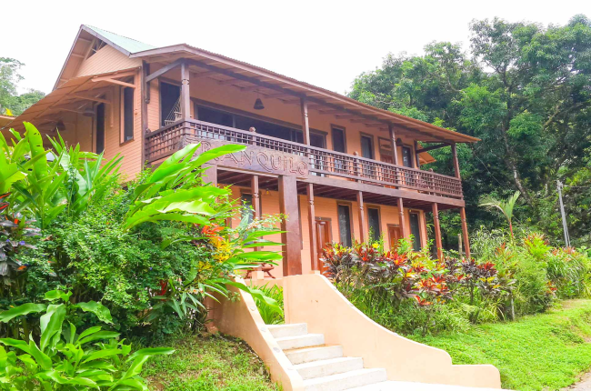 Tranquilo lodge main building street view Drake Bay, Osa Peninsula Costa Rica #fishing #travel #vacation