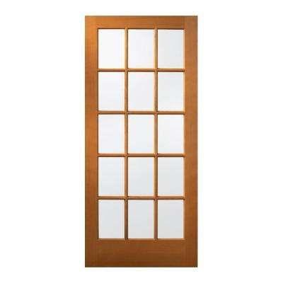 36 In X 80 In 15 Lite Unfinished Fir Wood Front Door Slab With Images Wood Exterior Door Wood Front Doors Wood Doors