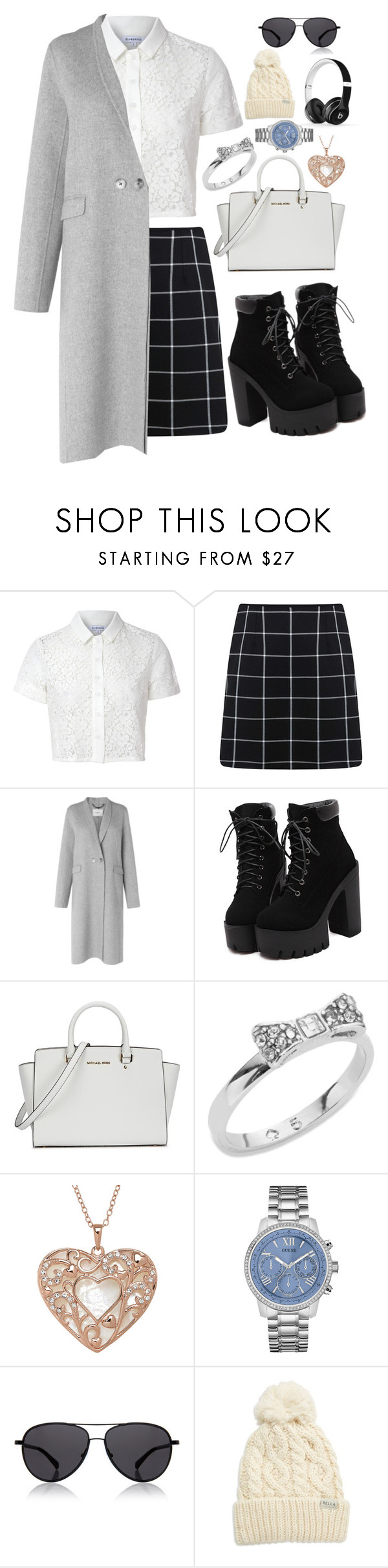 """#64"" by noimagination ❤ liked on Polyvore featuring Glamorous, Miss Selfridge, L.K.Bennett, Michael Kors, Kate Spade, GUESS, The Row, Rella and Beats by Dr. Dre"
