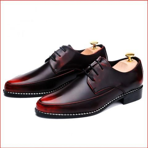 men's patent leather lace up formal red dress shoes  mens