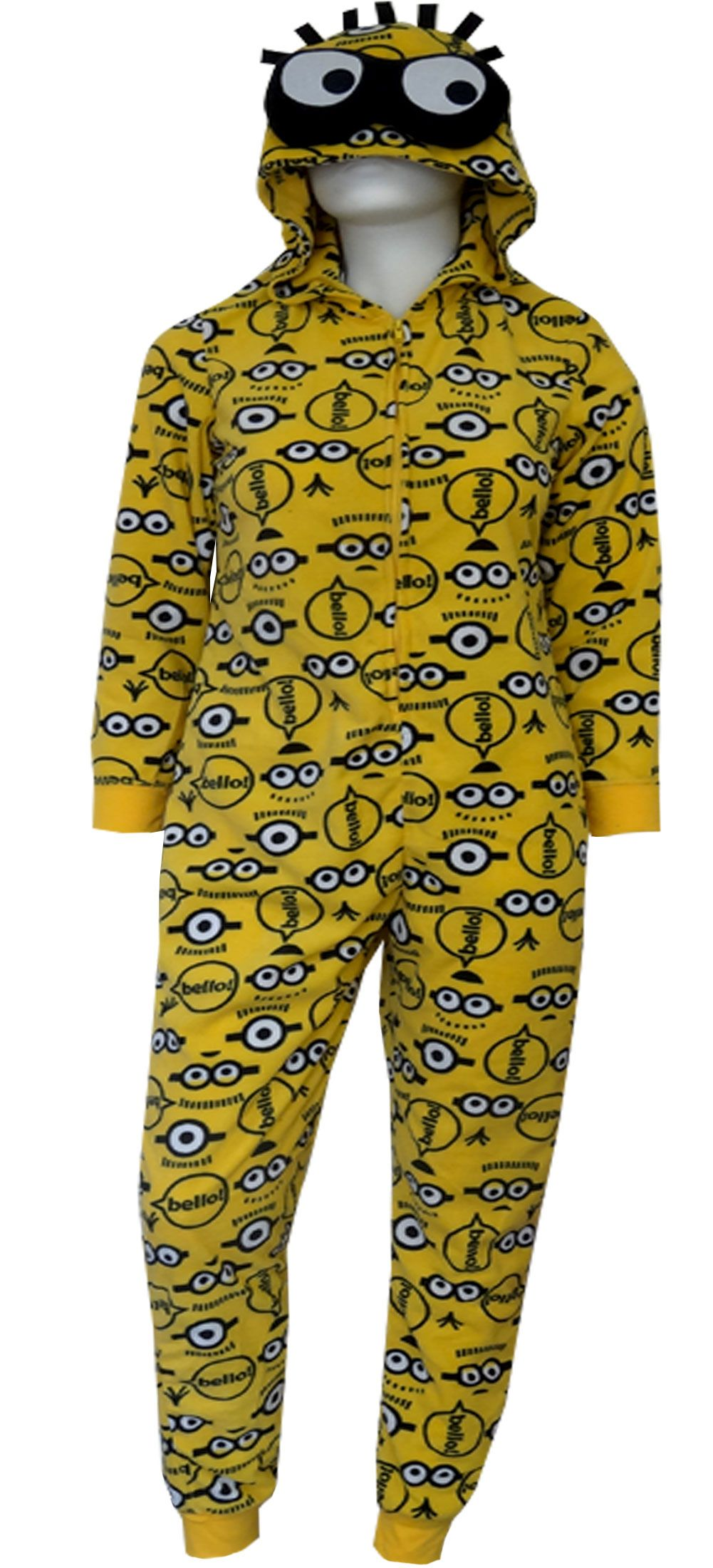 WebUndies.com Despicable Me Minion Hooded Onesie Pajama | Women's ...