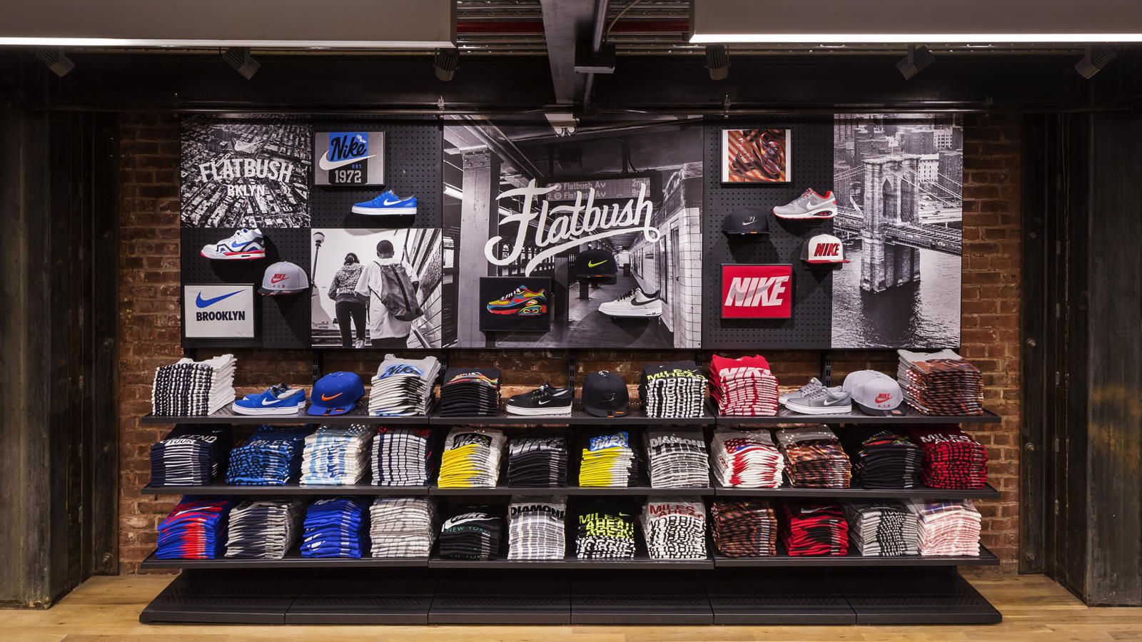 Cortar sociedad Redondear a la baja  Nostrand and Flatbush: Nike Opens First NYC Community Store in the Heart of  Brooklyn | Nike retail, Retail store design, Design store
