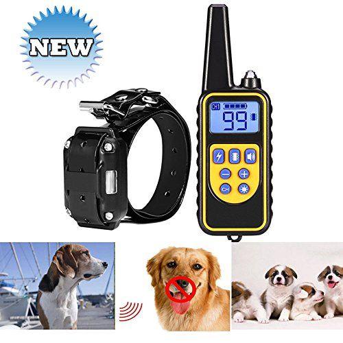 Fashionwu Electric Training Collar Barking Stop Pet Dog Training