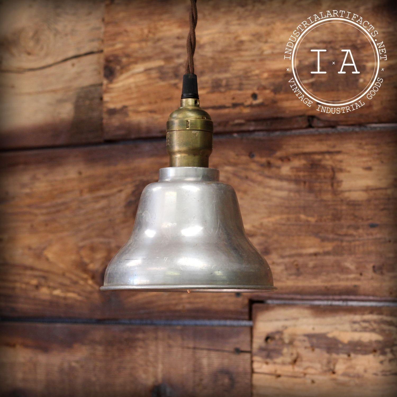 Vintage Industrial Aluminum Shade Hanging Pendant Ceiling Lamp Light Fixture | eBay
