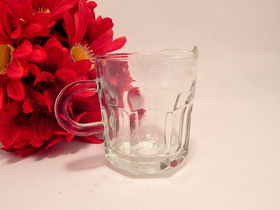 Cream Pitcher Individual Syrup Small Serving Dish VTG EAGP Glass ...