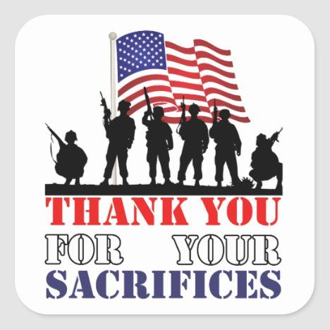 Thank You Soldiers Veterans Day Stickers | Zazzle.com