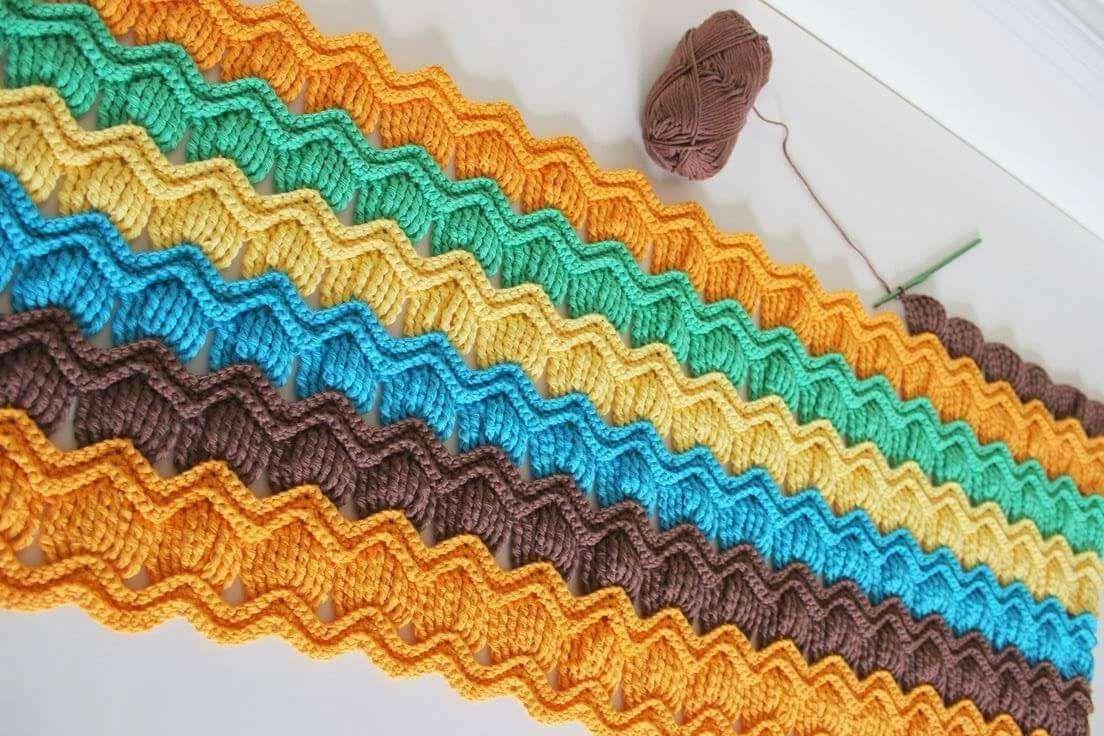 Vintage Fan Ripple Crochet Pattern Free.   Idei de încercat ...