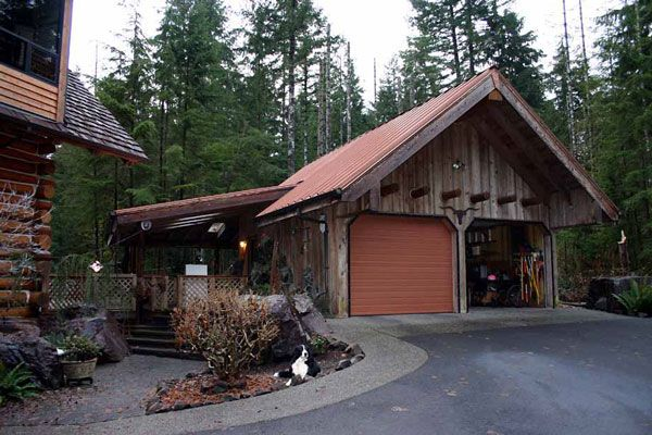 Rustic Style Cabin Garages Logs Cabin and Barn