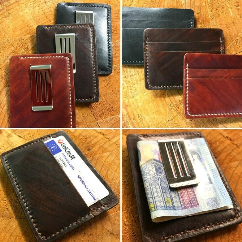 Slim leather wallet with money clip available on my Etsy shop  Handmade in Italy  Rodrigo Dorigato