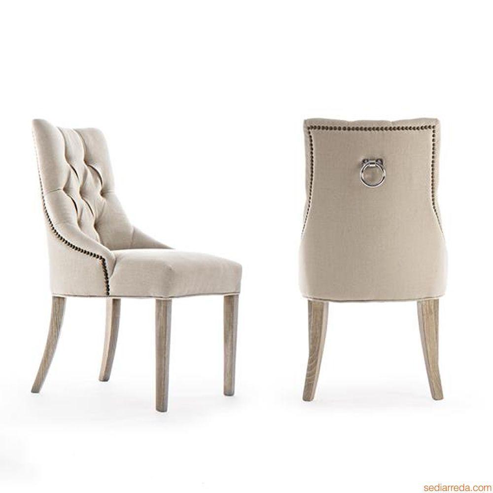 Amarna chaise classique avec dossier rembourr Fauteuil de table a manger