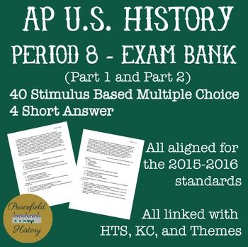 APUSH Period 8 Stimulus Based Multiple Choice Short Answer