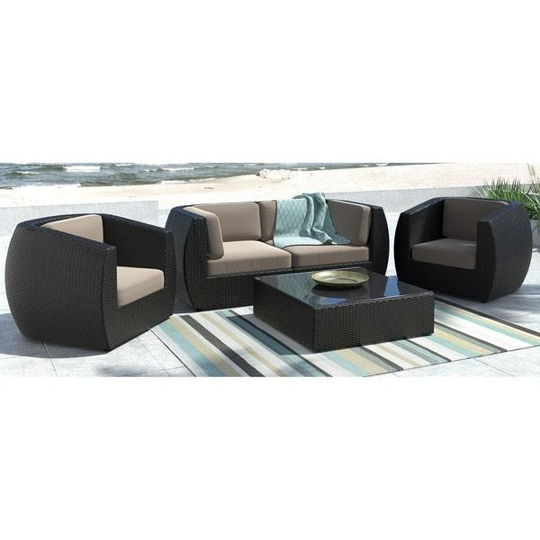 Patio Furniture Lynnwood Wa: CorLiving Seattle Curved 5-piece Sofa And Chair Patio Set
