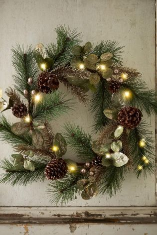 Lit Gold Acorn Wreath From The Next Uk Online