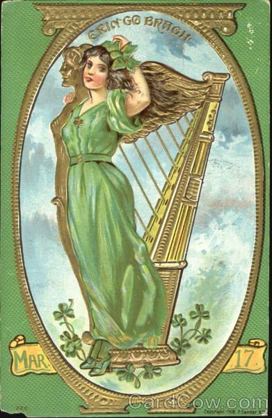 "1911 (postmark) Post Card ""Erin Go Bragh Mar 17"""