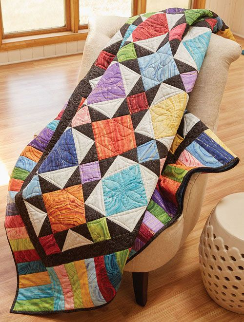 This Fresh Take on a Classic Quilt Glows with Color | Pinterest ...