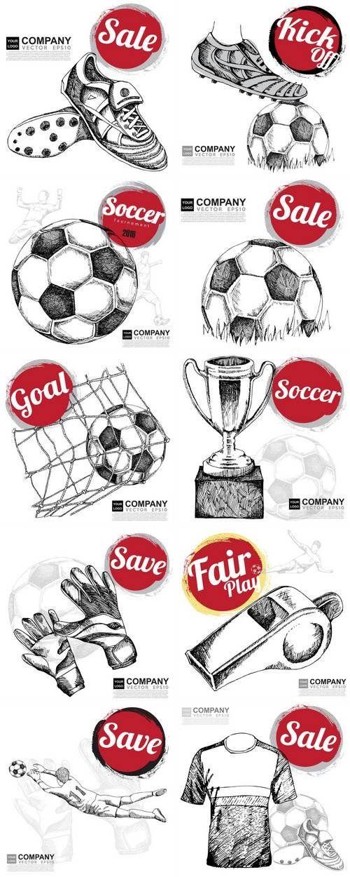 Drawing Of Soccer Background Baggrund Tegninger