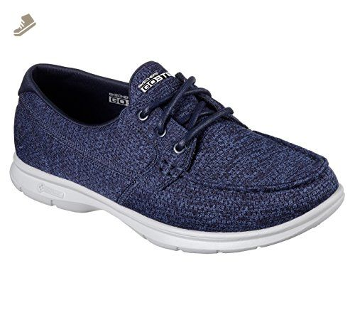 dd48fe6b26f5a Skechers Go Step Excape Womens Boat Shoes Navy 9.5 - Skechers ...