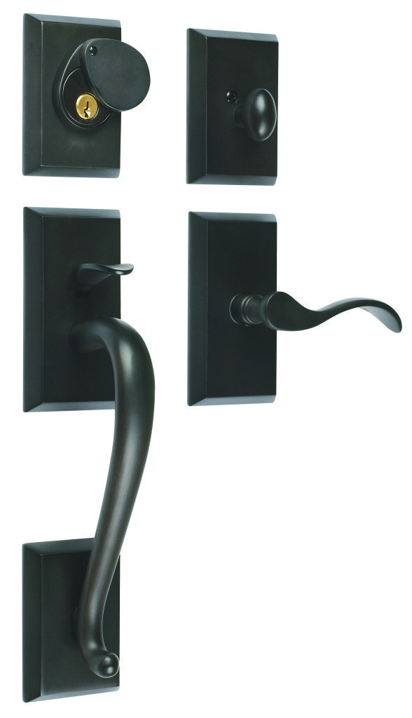 rockwell premium savoy solid brass entry door handleset in oil