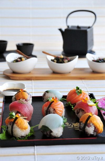 Hijiki & Star Fruit Salad; Mochi Rice & Adzuki Beans Sushi Balls