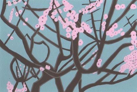 季節の花。遅咲きの梅の花。2018/3/15