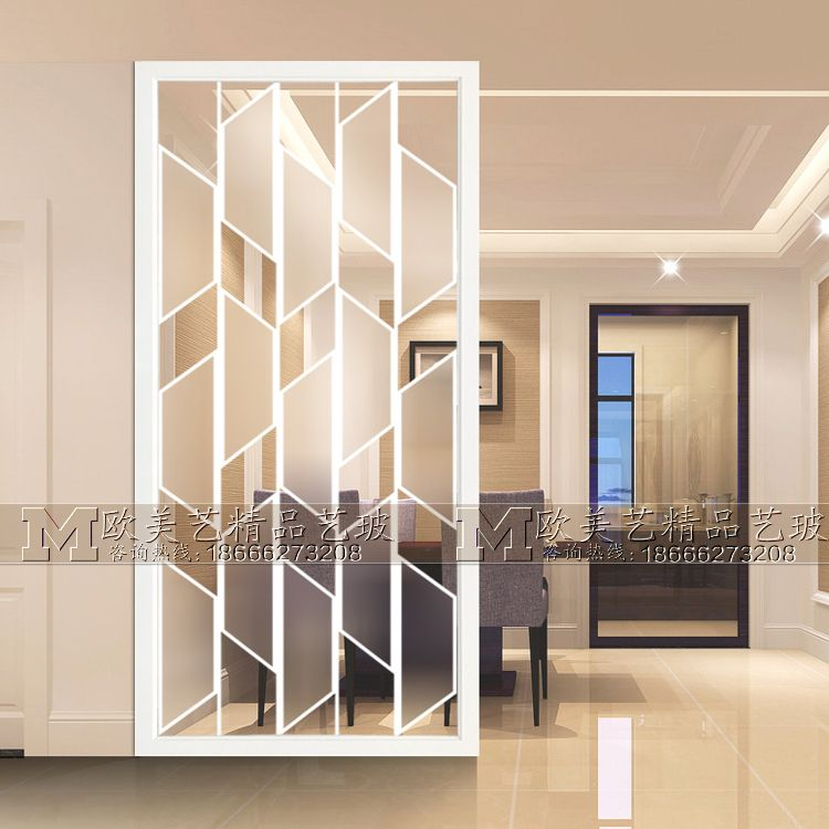 Home Furnishings Art Glass Partition Wall Light Luxury Screen Tempered Modern Deco Living Room Partition Design Wall Partition Design Living Room Design Modern