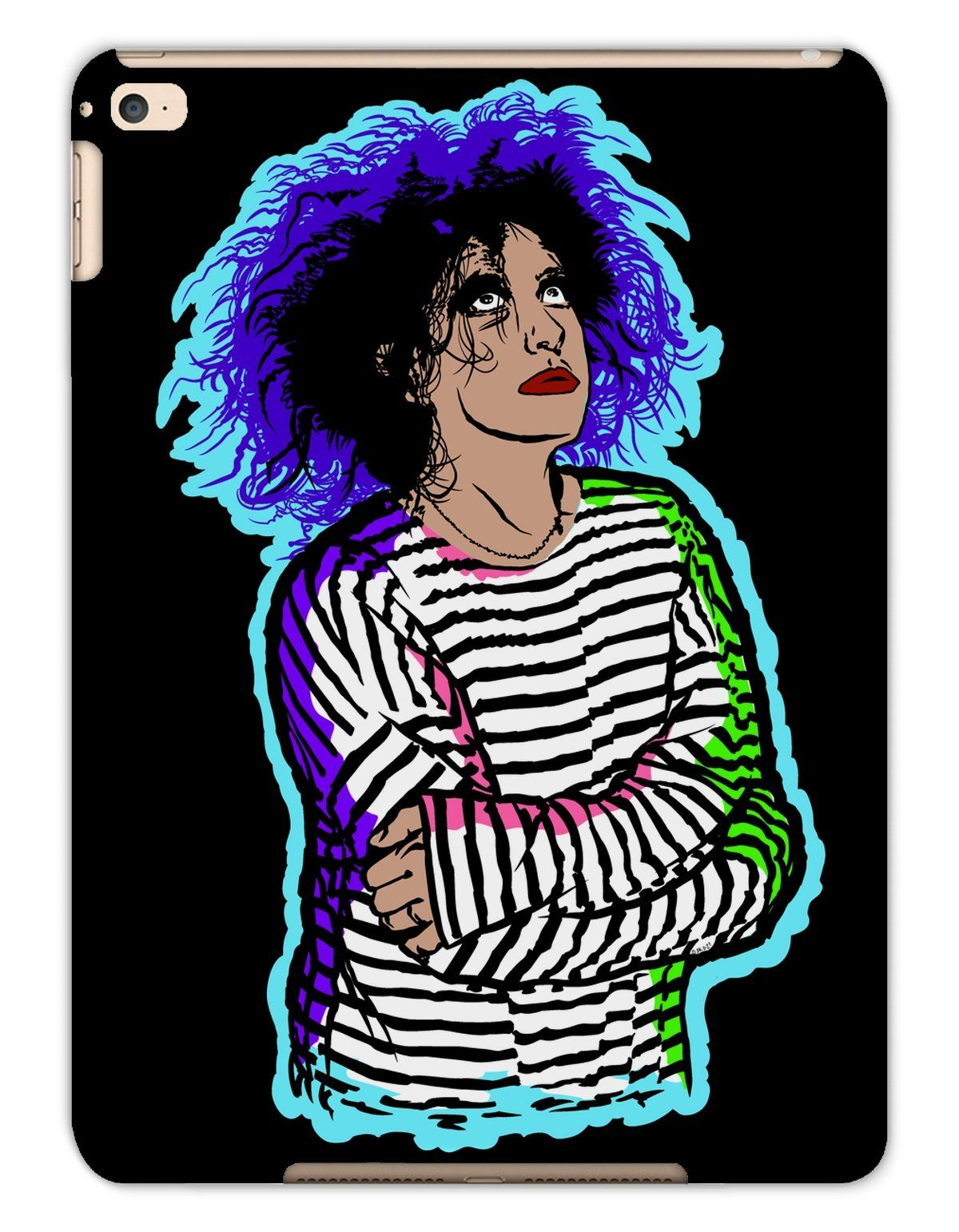 Photo of 'Robert Smith' Pop Colour Tablet Cases – iPad Air 2 / Matte