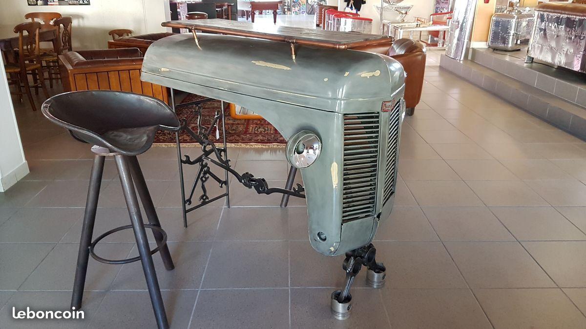 Comptoir bar capot de tracteur Ferguson Décoration Cher ...