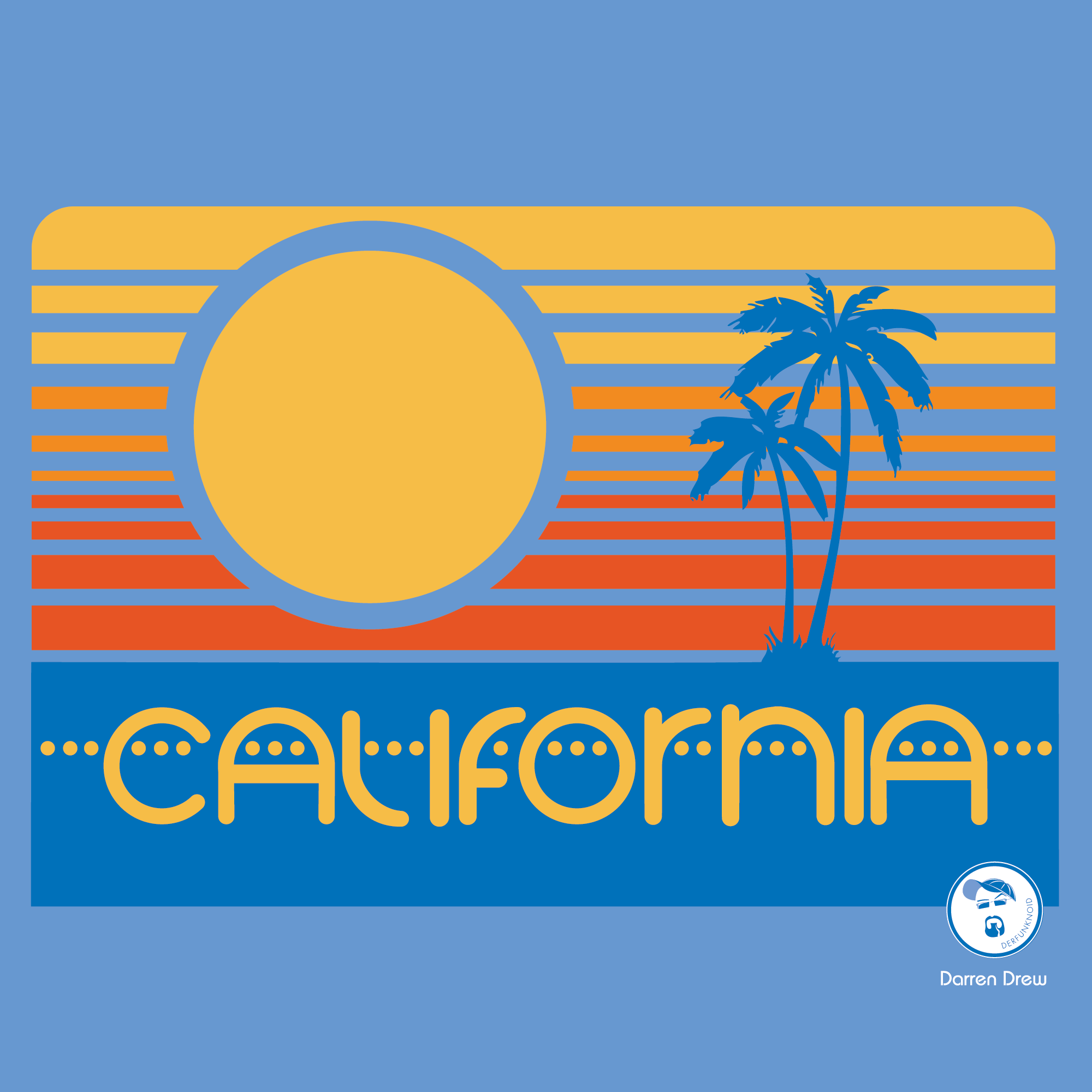 California 70 s style darren drew graphic design for Ca design