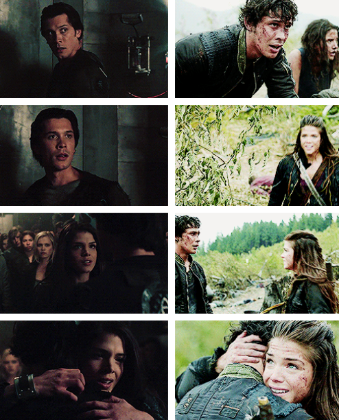 "The 100 - Bellamy and Octavia ""may we meet again."""