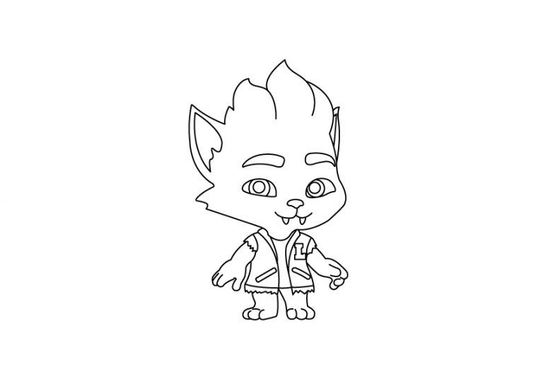 Super Monsters Lobo Howler Colouring Page Drakl Monster Coloring Pages Coloring Pages Cartoon Coloring Pages