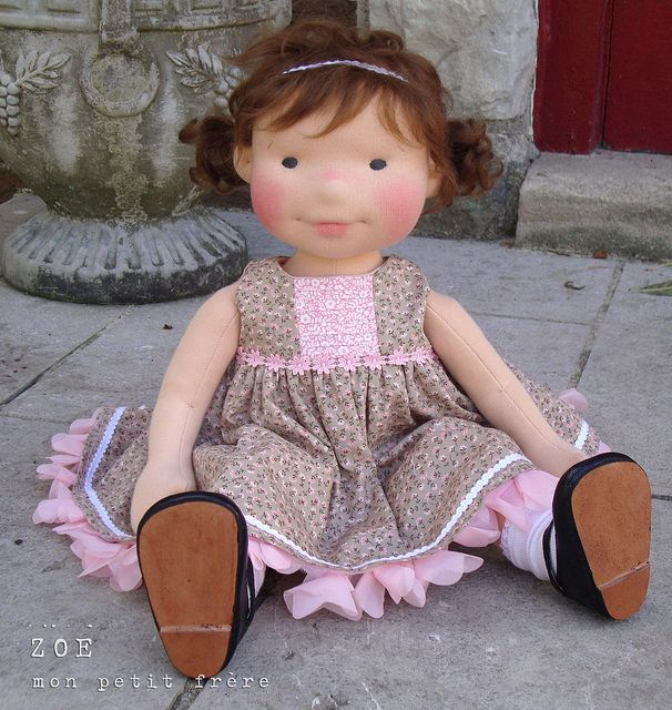 Zoe-handmade natural fiber doll by Mon Petit Frère | Flickr - Photo Sharing!