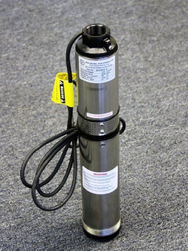 Hallmark Industries Ma0414x 7a Deep Well Submersible Pump 1 Hp 230v 60 Hz 33 Gpm 207 Head Stainless Ste Submersible Well Pump Submersible Pump Well Pump