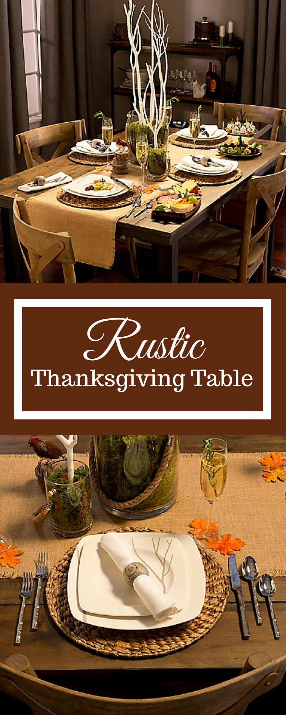 Rustic Thanksgiving Table - Set a beautiful Thanksgiving dinner table with this Rustic Collection. Choose & Rustic Thanksgiving Table - Set a beautiful Thanksgiving dinner ...