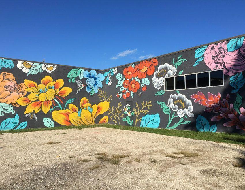 Exteriors Ouizi Pattern People Mural Ideas Art Street Graffiti Murals Environmental Painting