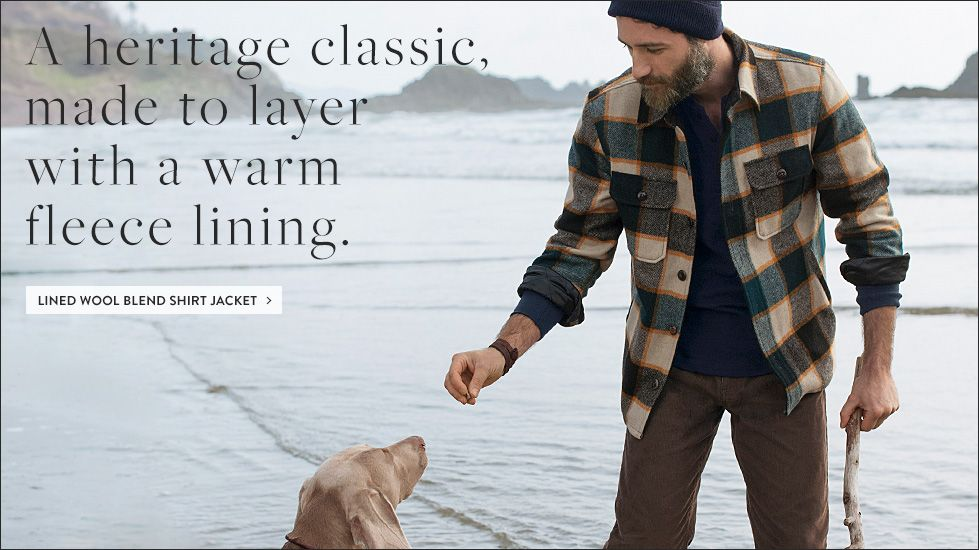 A heritage classic, made to layer with a warm fleece lining.
