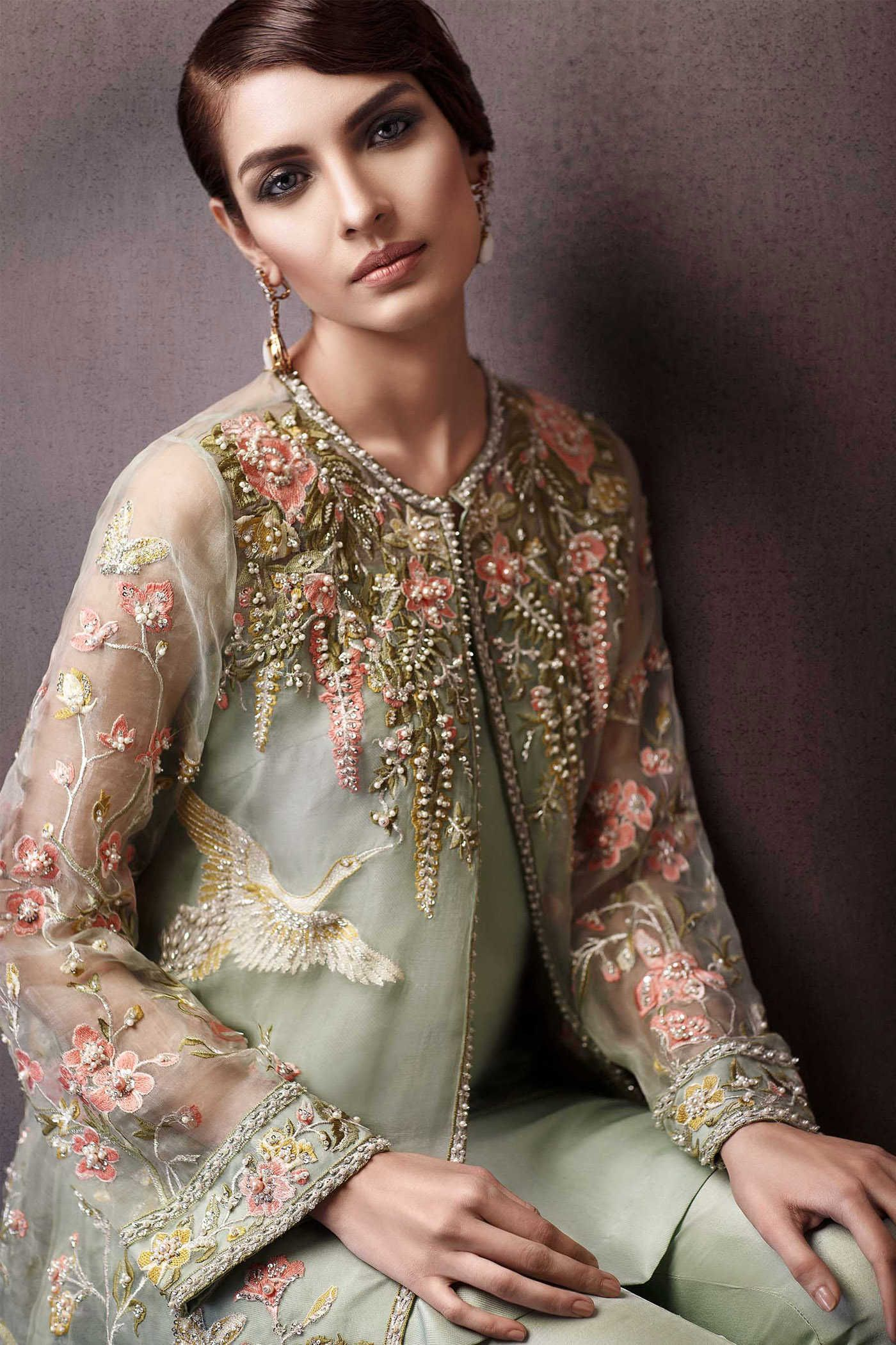 6b3d0db28124d Pakistani Party Wear Embroidered Shirts Designs 2017-2018 Collection