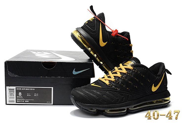 Nike 2019 KPU AIR MAX Sports Shoes Men Black Gold 40-47 in 2019 ... f8df0e21f