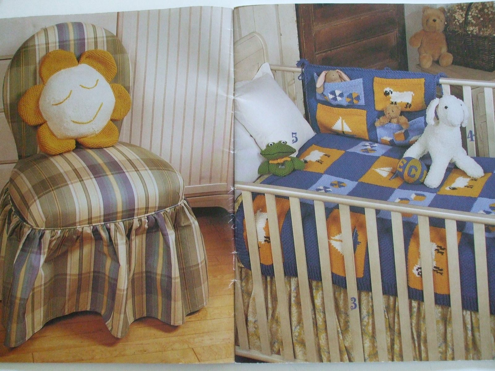 In My Room Patons 943 Knitting Patterns Pillow Nursery Set Laundry Bags Blanket Secondsilver Prices Us Include Shipping Canada