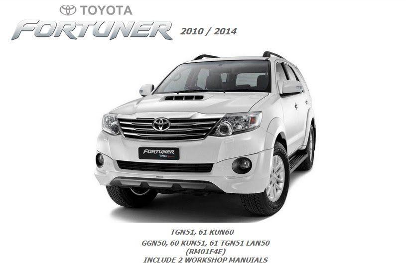 toyota fortuner 2012 2013 2014 repair service manual fortuner rh pinterest com Toyota Fortuner 2010 Toyota Fortuner 2010