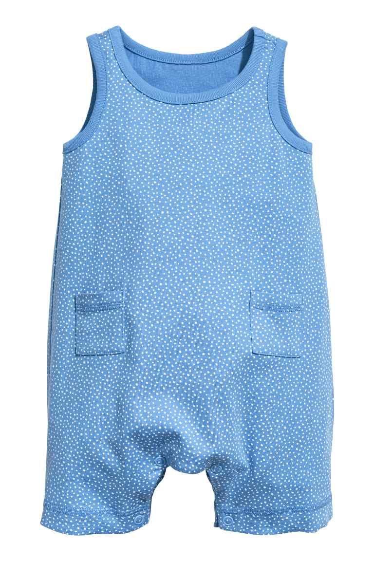 Kinder Pale Blue Baby Boy Romper Suit
