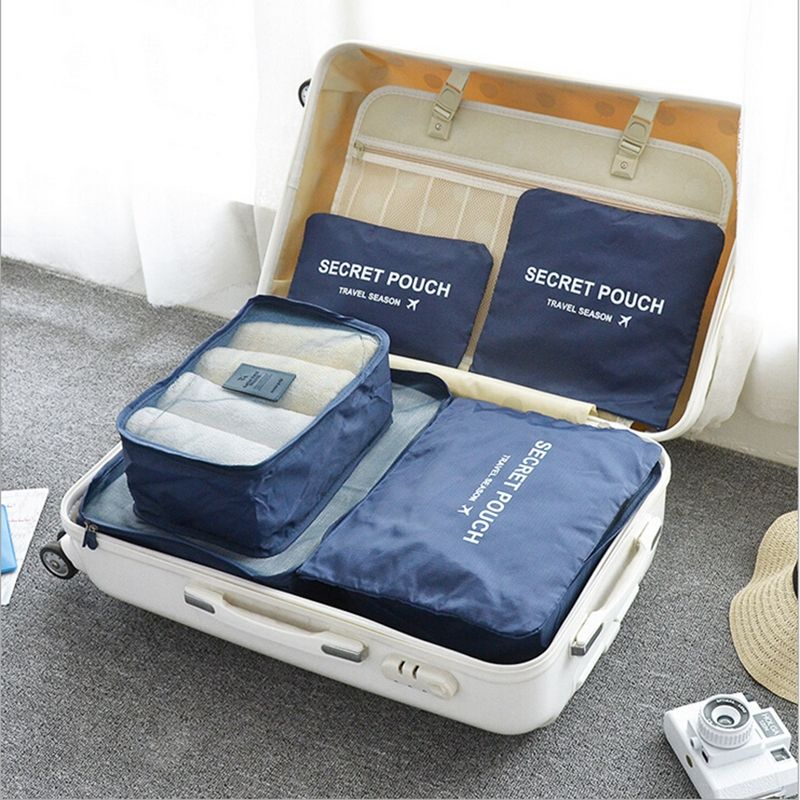 6 Pcs Suitcase Organizer Sets Clothes Tidy Organizer Laundry Pouch