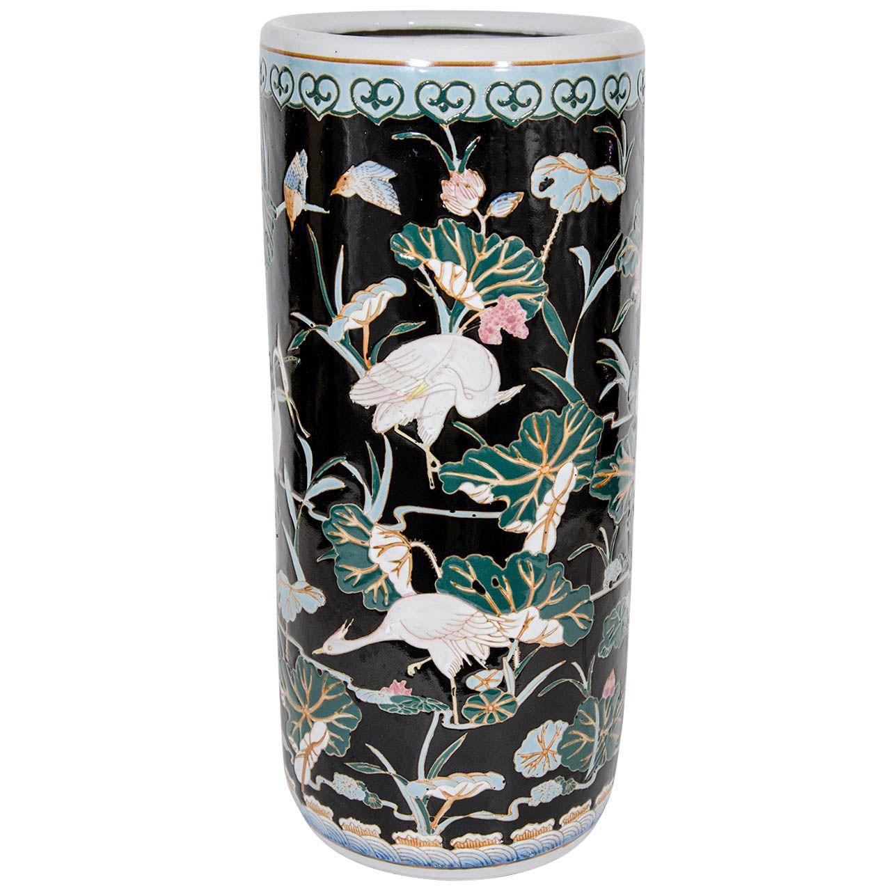 Exquisite porcelain umbrella stand with hand painted oriental exquisite porcelain umbrella stand with hand painted oriental designs reviewsmspy