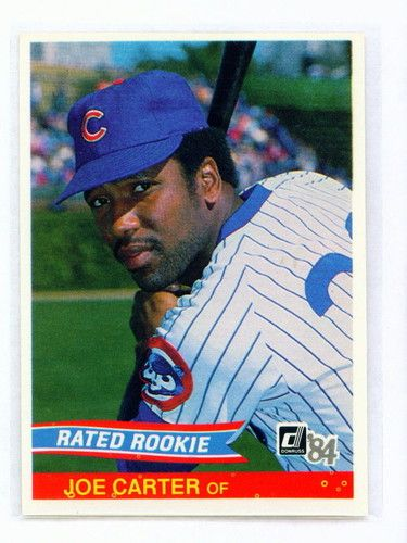 March 7 Happy Birthday Joe Carter Trade Away The Guy That Wins World Series For Another Team With A Walk Off Home Run Only Cubs 1984 Donruss
