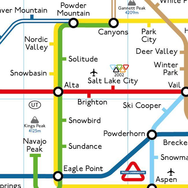 The Utah section of Frozen Underground's iconic network map ... Salt Lake City Utah Map Usa on ogden utah map usa, vernal utah map usa, kansas city kansas map usa,