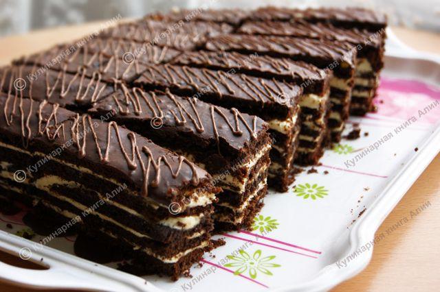 спартак торт рецепт з фото