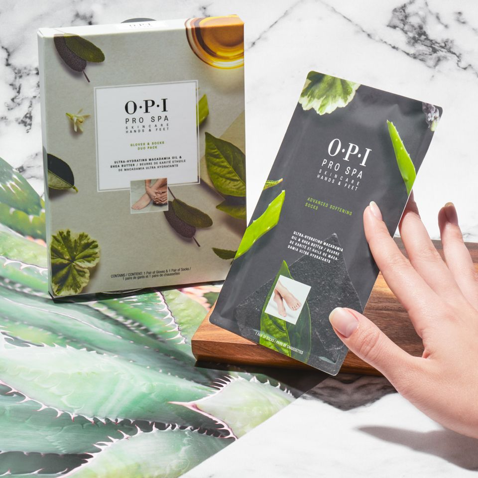 Grab A Pair For You And A Pair For Your Mani Bestie We Re Talkin About The Opiprospa Glove And Sock Duo Pack Opio Opi Long Lasting Nail Polish Spa Manicure