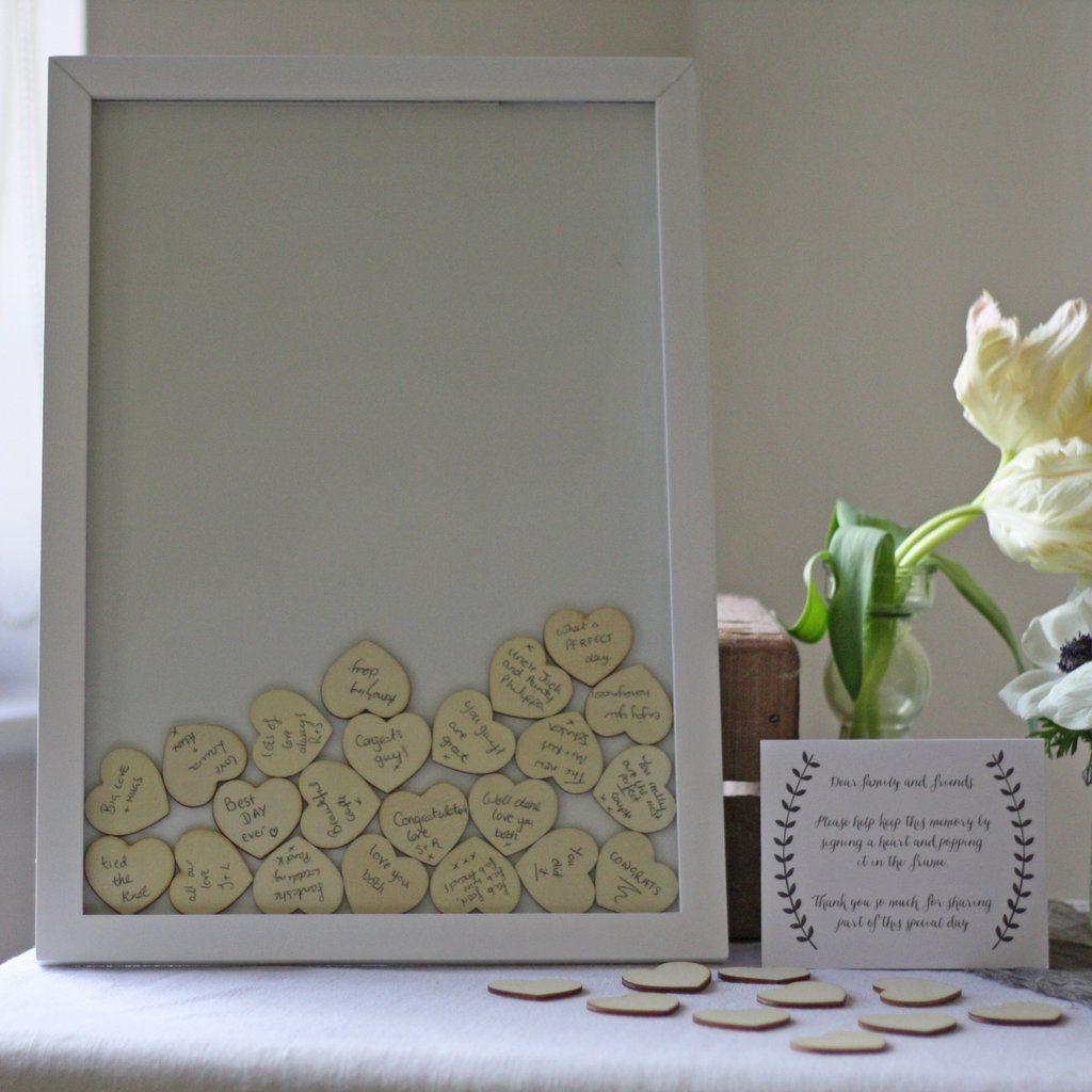 Wooden Heart Drop Top Wedding Guest Book | Wedding rustic ...